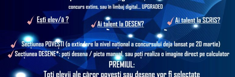 """Concurs național """"Viața s-a mutat pe internet"""" – Secțiunea DESENE"""