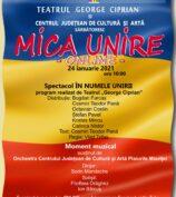 """Teatrul """" George Ciprian"""" și Centrul Județean de Cultură și Artă Buzău sărbătoresc MICA UNIRE – ONLINE!"""